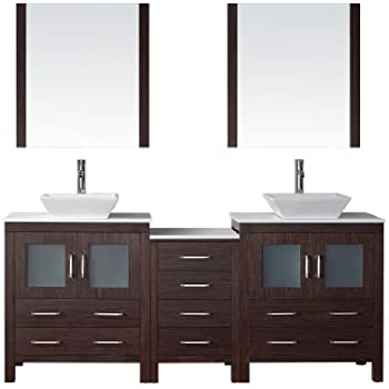 Wyndham Collection Daytona 78 inch Double Bathroom Vanity in ...