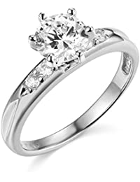 14K White or Yellow Gold Wedding Engagement Ring