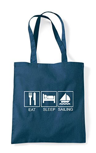 Funny Hobby Eat Activity Tiles Sleep Shopper Sailing Petrol Tote Bag qUOUtASpW