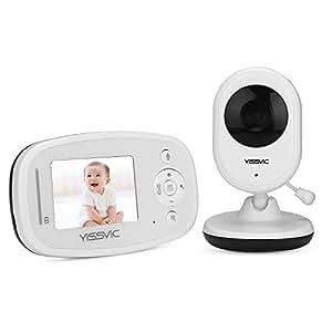 """YISSVIC Vigilabebés Inalambrico Monitor Bebé Inteligente con LCD 2,4"""" y Cámara Visión Nocturna por Infrarrojos Modo Eco"""