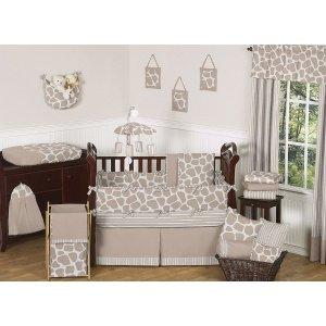 Sweet Jojo Designs Giraffe Neutral Bed Skirt for Toddler Bedding Sets by Sweet Jojo Designs