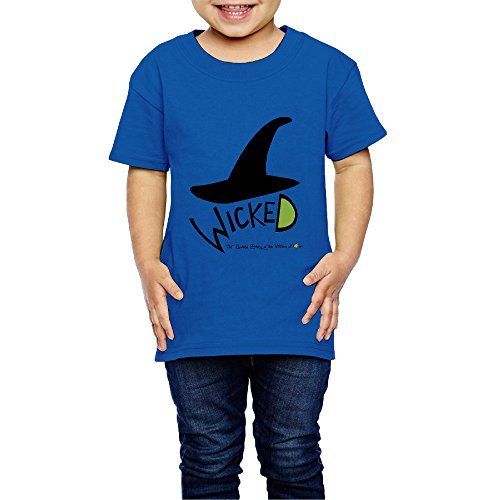 Price comparison product image AK79 Kids 2-6 Years Old Boys And Girls Tshirt Wicked Musical RoyalBlue Size 5-6 Toddler