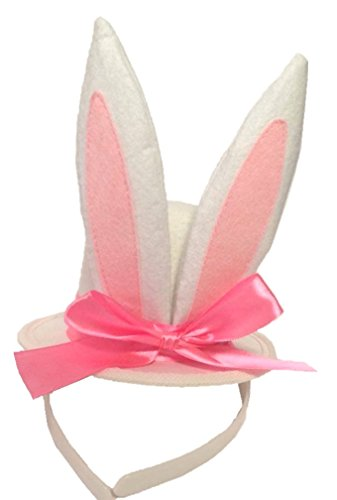[Bunny Ears Top Hat Fascinator] (Bunny Costume For 12 Year Old)