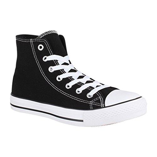 Top Unisex High Sneaker Basic Damen Eine Nummer Chunkyrayan Black Größer Herren Aus Fällt Elara XxdSaX