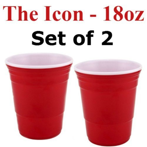 (Red Cup Living 18 Oz. Reusable Red Cup - The Icon (Set of)