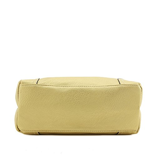 Hobo Shoulder Bag with Big Snap Hook Hardware (Gold) by Alyssa (Image #3)