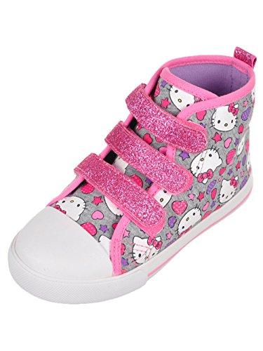 Hello Kitty Girls' Hi-Top Sneakers Toddler Grey (8 M US Toddler)