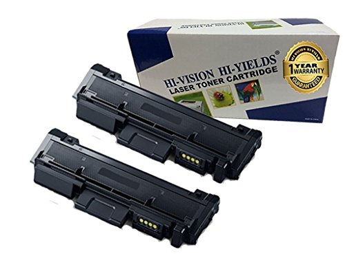 - HI-VISION HI-YIELDS Compatible Toner Cartridge Replacement for Samsung MLT-D116L (2 Black,2-Pack) works with M2825DW, M2875FD, M2875FW, M2835DW, M2885FW