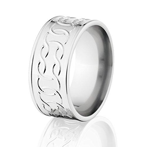 Cobalt Wedding Band Celtic Rings For Men Irish Knot Weddi...