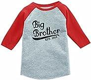 Tstars - Gift for Big Brother 2019 3/4 Sleeve Baseball Jersey Toddler Shirt