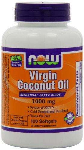 NOW Foods Virgin Coconut Oil 1000mg, 120 Softgels (Virgin Coconut Oil)