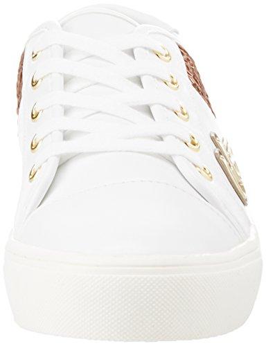 Blanco bianco oro Para 432 Byblos Mujer Zapatillas Funny Sneaker qxAXaR