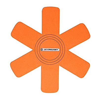 Le Creuset of America Felt Pan Protectors (Set of 3), Flame