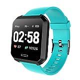 IP68 Waterproof Smart Watch Men Blood Pressure Heart Rate Monitor Smartwatch for Android iOS Sport Fitness Tracker Watch Women,Blue