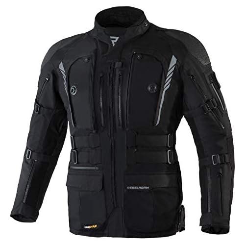 chollos oferta descuentos barato Rebelhorn Chaqueta de moto de tres capas Membrana Sympatex transpirable e impermeable chaqueta softshell interior protectores SASTEC Patrol Black S