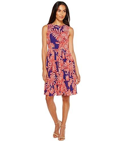 振る涙が出るアイデア[アドリアナパペル] Adrianna Papell レディース Paisley Bandana Printed Chiffon Pleated Fit and Flare Dress ドレス Navy Multi 8 [並行輸入品]