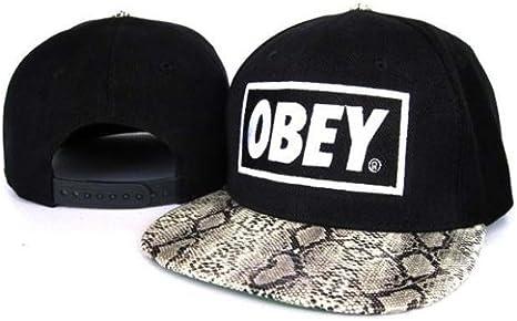 Obey Gorra Negro/Piel de serpiente: Amazon.es: Deportes y aire libre