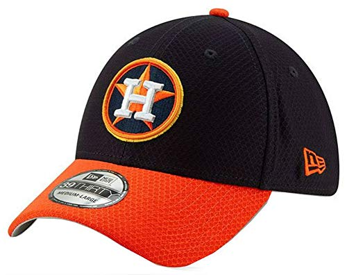 New Era 2019 MLB Houston Astros Bat Practice Hat Cap 39Thirty 3930 BP (M/L) Navy/Orange