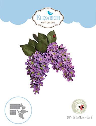 Elizabeth Craft Designs 1487 Susan's Garden Club Notes-Lilac 2 Metal Die, Multicolor ()