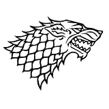 "House Stark Direwolf for Laptop and Car Window Vinyl Decal Sticker Compatible with Apple MacBook Pro Air 11"" 12"" 13"" 15"" (5 inch x 3.7 inch)"