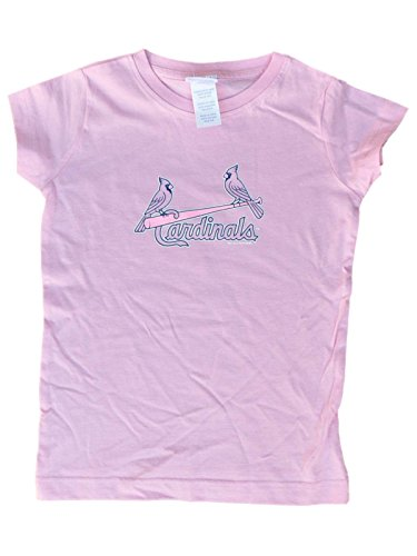- St. Louis Cardinals SAAG Toddler Girls Light Pink Short Sleeve T-Shirt (2T)