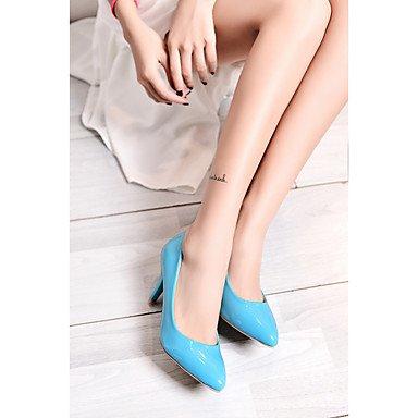 Le donne sexy elegante sandali donna tacchi Primavera Estate Autunno Inverno altri PU Office & Carriera Party & abito da sera Stiletto Heel blu giallo , blu , us6 / EU36 / UK4 / CN36