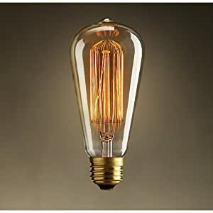 Vintage Edison 40W 110V E26 Base Squirrel Cage Filament ...:... Light Bulbs; ›; Incandescent Bulbs,Lighting