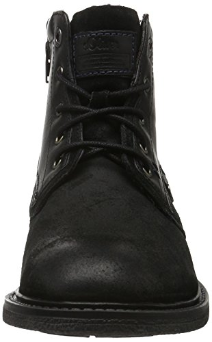 s.Oliver 15224, Botas Chukka para Hombre Negro (BLACK 001)