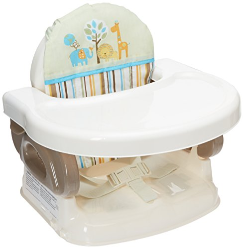 Summer Infant Deluxe Comfort Folding Booster Seat, Tan Compact High Chair