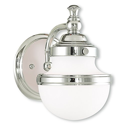 Livex Lighting 5711-05 Oldwick 1 Bath Light, Polished Chrome by Livex Lighting (Image #1)