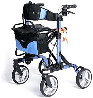 Amazon.com: Andador plegable Move-x con Deluxe 4-Wheel ...