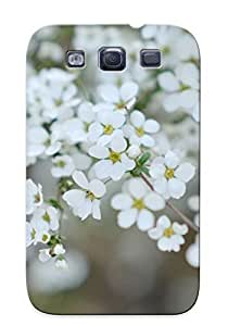 Fashionable Style Skin Series For SamSung Galaxy S4 Case Cover - White Blossoms