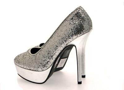 High Court Metallic Platform Silver Glitter Heel Glitter Dress Ladies Size Party Shoes Shoes wqC6xI4