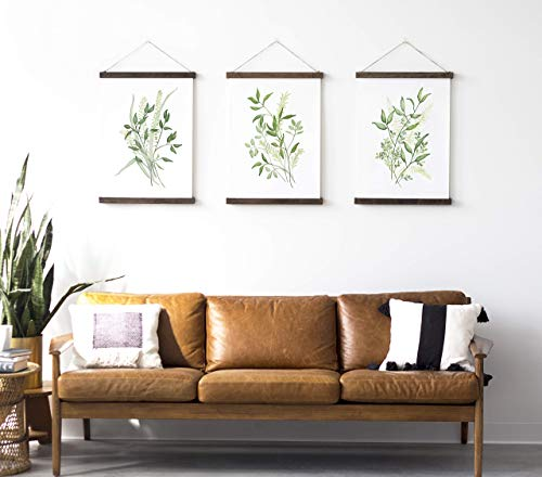 Greenery Hanging Canvas Poster Set of 3 ()