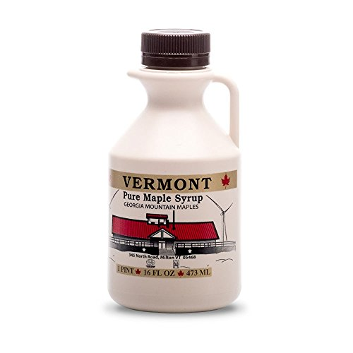 Georgia Mountain Maples of Vermont, Organic Maple Syrup, Amber Color Rich Taste, 16 oz (Maple Syrup Vermont)