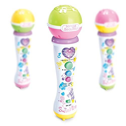 MLM Kids Microphone : Sing-A-Long Karaoke Machine Music Player with Bluetooth Connectivity and Built In Speaker (pack of 3)