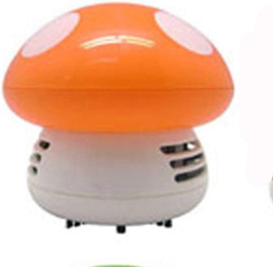 Creativos Pequeño Mini Hongo Aspiradora De Escritorio Teclado Máquina De Limpieza De Dibujos Animados De Polvo De Escritorio,Orange: Amazon.es: Hogar