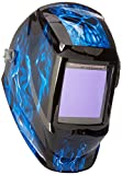 Instapark ADF Series GX990T Solar Powered Auto Darkening Welding Helmet with 4 Optical Sensors, 3.94' X 3.86' Viewing Area and Adjustable Shade Range #5 - #13 Bluish Devil