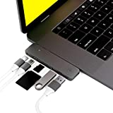 USB C Hub Certified for Apple MacBook Pro 2018, 2017, 2016 - USBC Adapter, Premium MacStick, Thunderbolt 3, TB3 40GB/S data, 5K@60Hz, Type C, 2 USB 3.0, SD and Micro SD Card Reader, Multiport Dongle