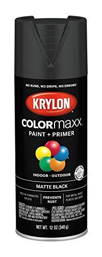 Krylon K05592007 COLORmaxx Spray Paint, Aerosol, Black