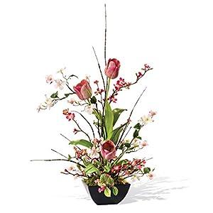 Petals Cherry Blossom, Dogwood & Tulip Silk Flower Arrangement 20