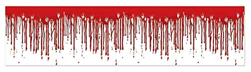 Club Pack of 12 Halloween Scary Dripping Blood Scene Party Decorating Streamers 25'