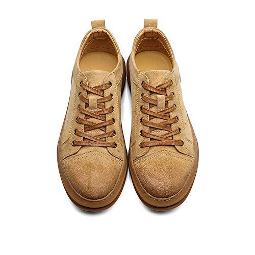 classiche Scarpe uomo 44 Giallo ginnastica Scarpe rotonde Scarpe stringate Fuxitoggo da Colore sportive traspiranti Dimensione Giallo EU da 5U8tqaw