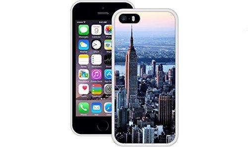 New York City | Handgefertigt | iPhone 5 5s SE | Weiß TPU Hülle