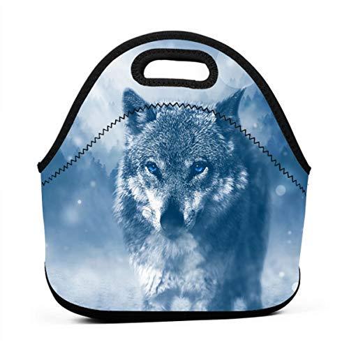 JIAU HUA Lightweight Tote Lunch Bag Snow Plow Wolf Mini School School Supplies Lunch Bag for Girls Adult Kids Teens Boys Teenage Toddlers (Mini Snowplow)