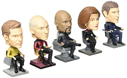 Star Trek Captains Monitor Mate Bobbles Set of 5-Con. Excl.