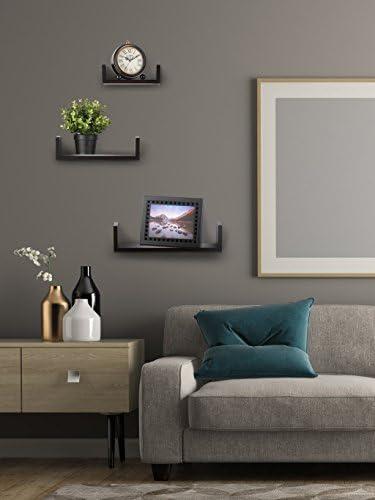 home, kitchen, home décor, home décor accents,  floating shelves 11 discount Floating Shelves Set of 3 Wall Shelves - Espresso promotion