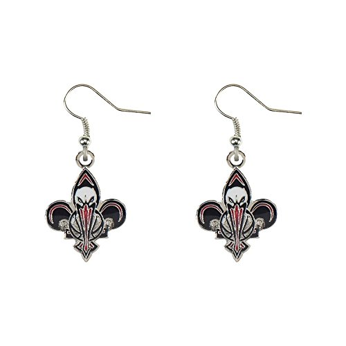 New Orleans Pelicans Dangle Earrings NBA Officially Licensed Product Silver by aminco