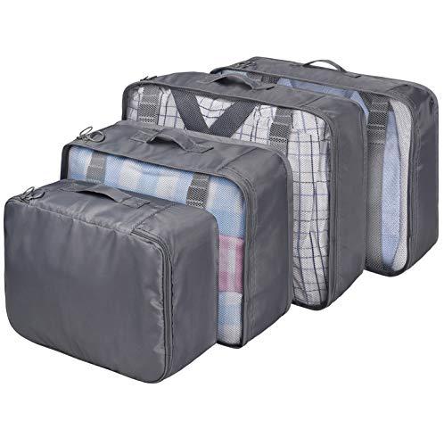 VAGREEZ Packing Cubes 4 Pcs Travel Luggage Packing Organizers Set
