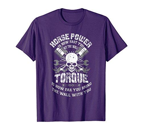 Mens Diesel Mechanic T-Shirt Funny Horsepower Torque Gift Men's 3XL Purple by Diesel
